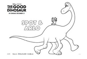 The Good Dinosaur Colouring In Sheet